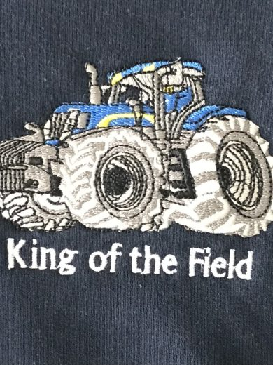 King of the Field Tractor Hoodies