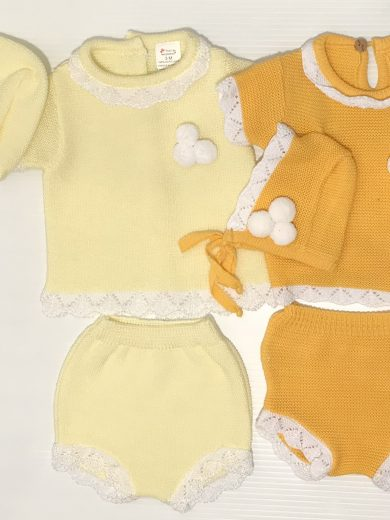 BABY GIRL KNIT SUIT