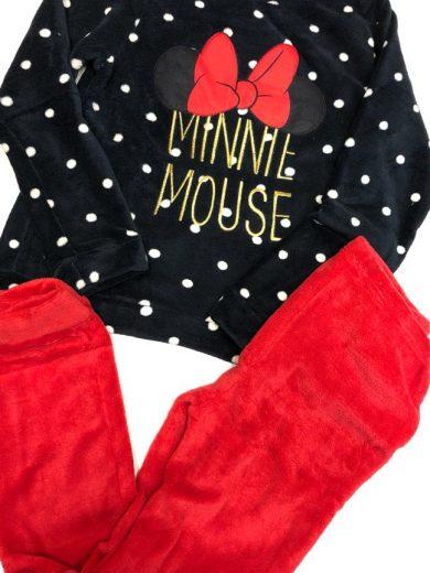 Ladies Minnie Fleece Pyjamas