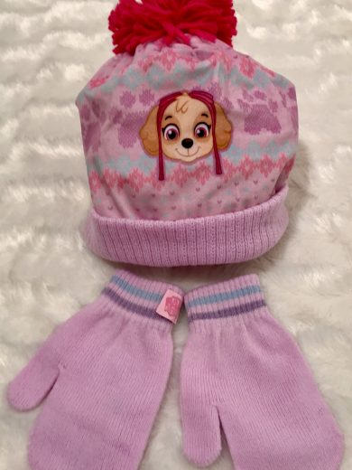 Girl's Paw patrol Hat and Mittens Set