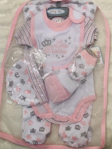 BABY GIRL 7-PIECE LAYETTE