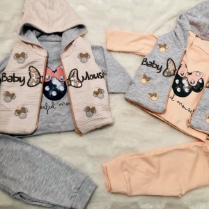 GIRL'S BABY MOUSE OUTFIT