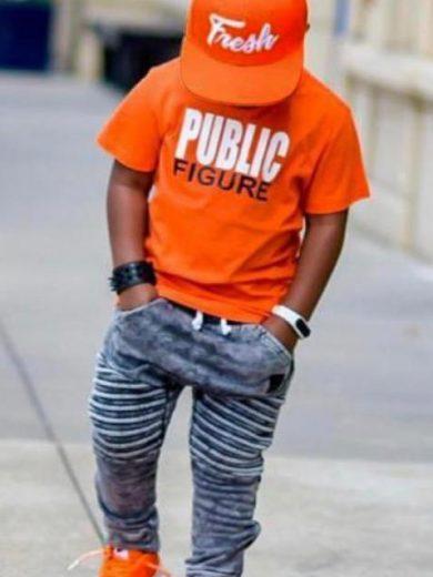 BOY'S CAP 3-PIECE OUTFIT