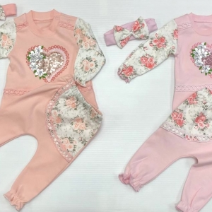 BABY 3-PIECE ROSE OUTFIT