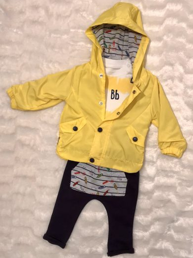 BOY'S 3-PIECE BABY OUTFIT