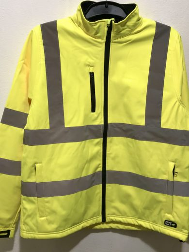 MEN'S HI-VIS SOFTSHELL JACKET