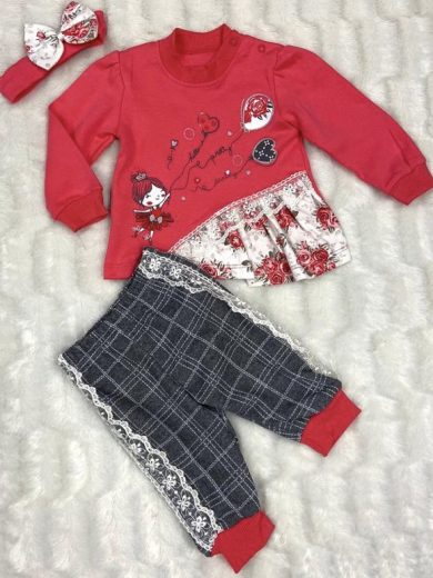 BABY GIRL 3-PIECE OUTFIT