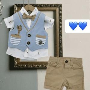 BABY BOY'S SHORTS SET