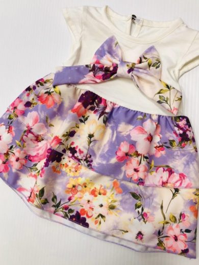 FLORAL BOW DRESS