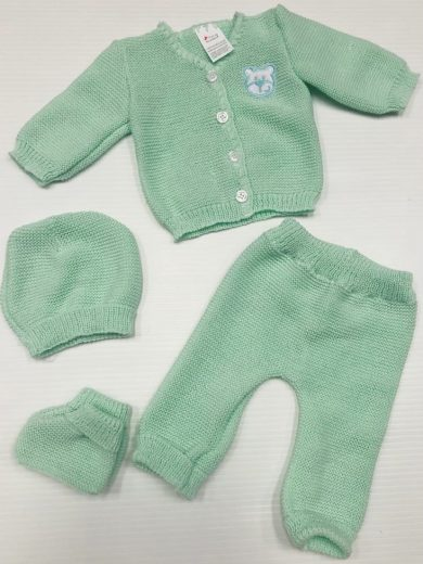 KNIT 4-PIECE BABY SET