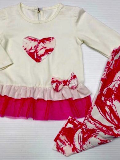 BABY GIRL HEART OUTFIT