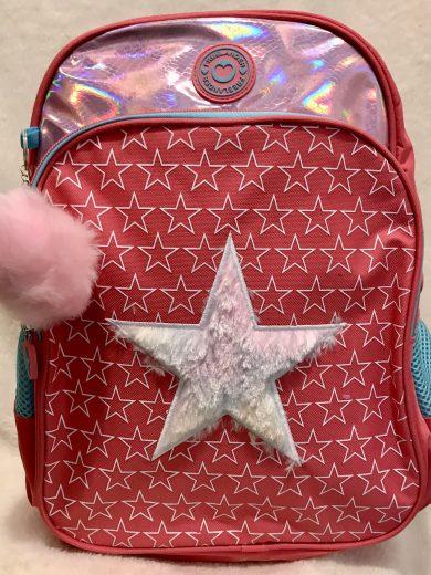 FUR PRINT SCHOOL BAG