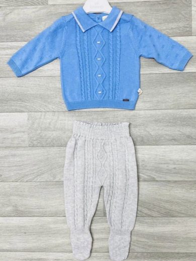 BABY BOY KNIT COTTON OUTFIT