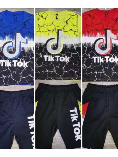 TIK TOK TOP/SHORTS SET