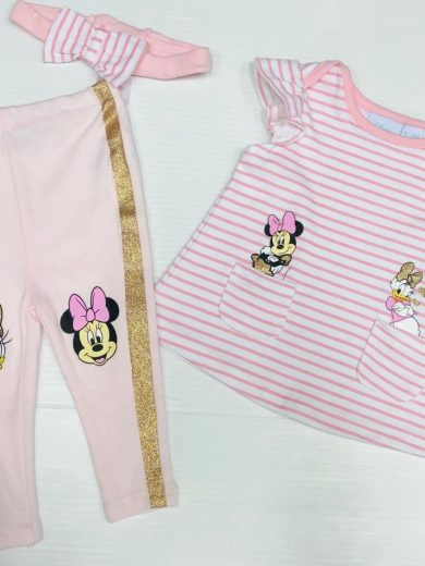 DISNEY BABY GIRL 3-PIECE OUTFIT