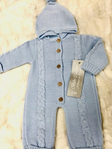 BABY KNIT ONE-PIECE SUIT
