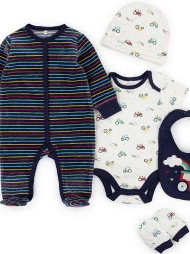 TRACTOR LAYETTE SET