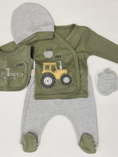 BABY TRACTOR 5-PIECE OUTFIT